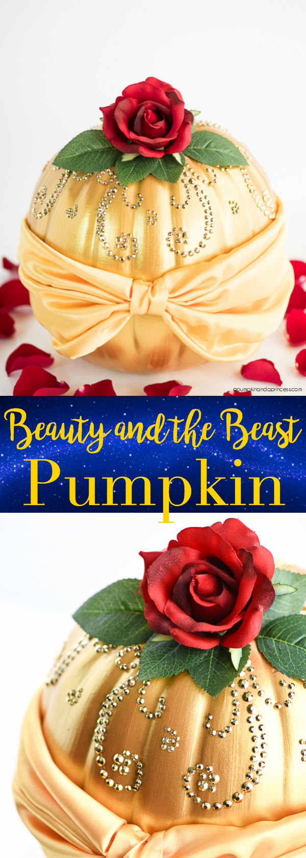 Diy beauty and the beast belle pumpkin diy beauty and the beast belle pumpkin how to make a disney princess belle pumpkin inspired by her beautiful dress and the enchanted rose izmirmasajfo