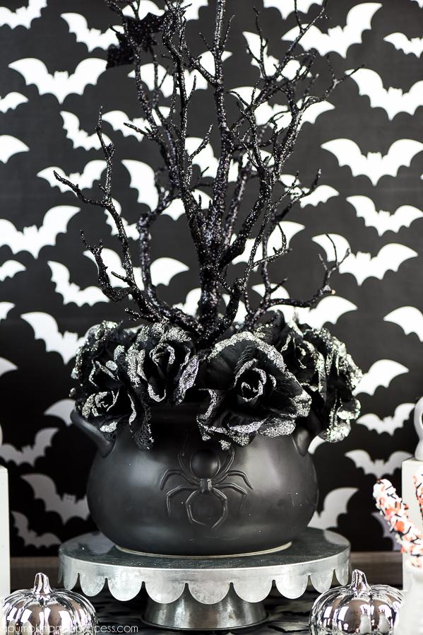 diy halloween tree centerpiece