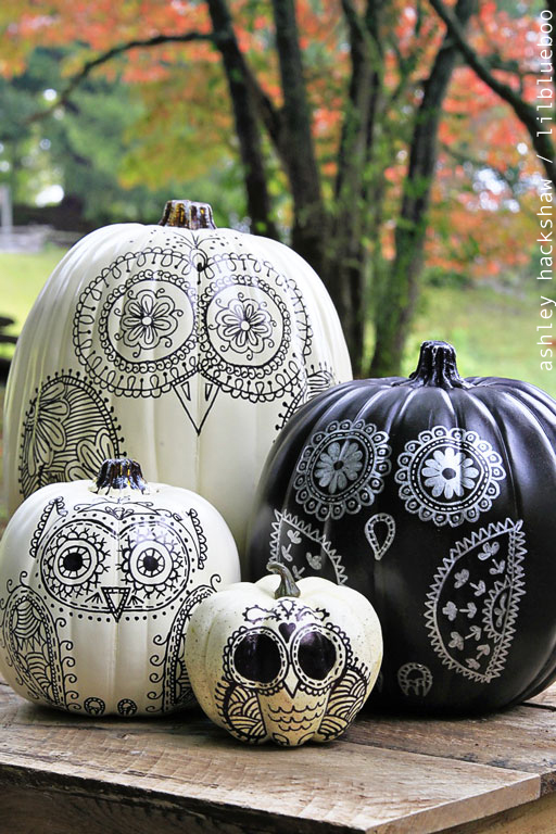diy-sharpie-owl-pumpkins