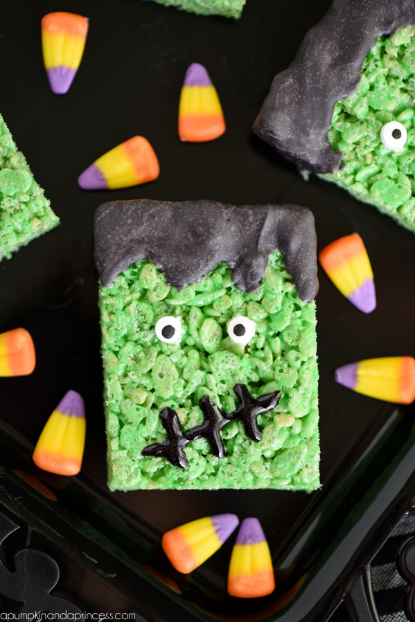 frankenstein-rice-krispies-treats