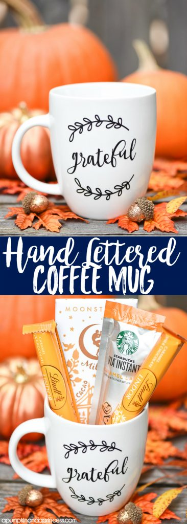 Hand Lettered coffee mug gift idea