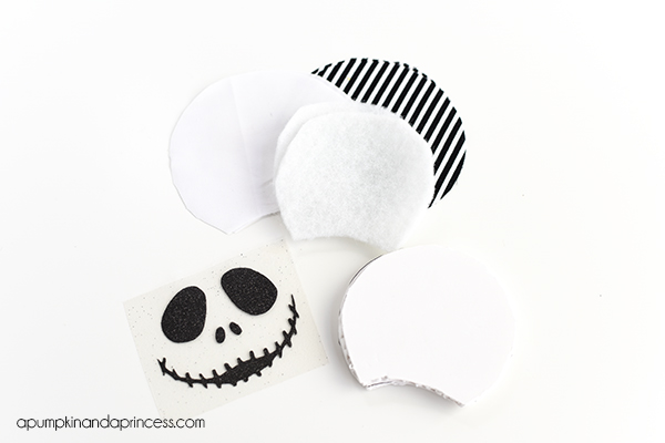 No-Sew Jack Skellington Mouse Ears
