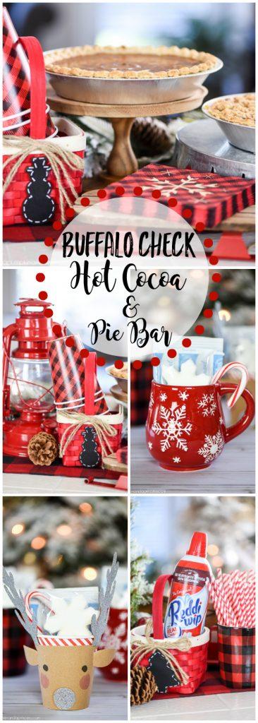 buffalo check hot cocoa & pie bar