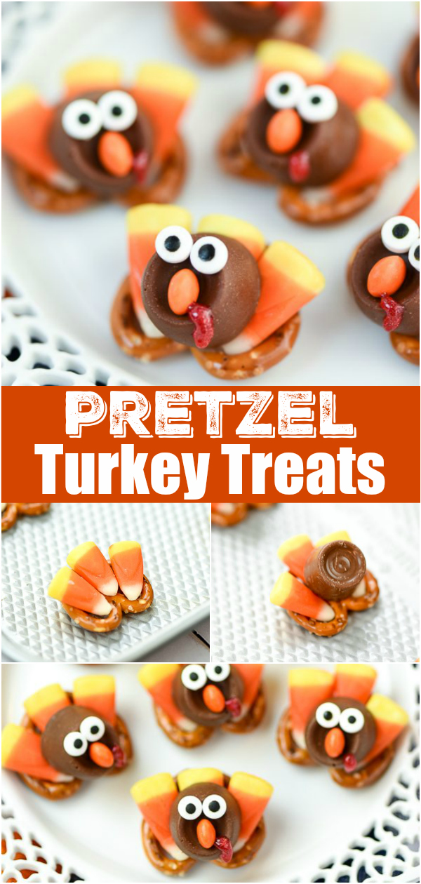 Rolo Candy Pretzel Turkey Treats