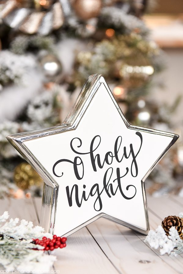 DIY O Holy Night Christmas Star Decor