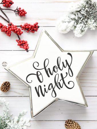 DIY O Holy Night Christmas Star Decor