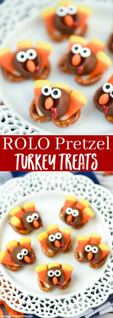 Quick and easy Thanksgiving treats for kids – Turkey ROLO Pretzel Treats