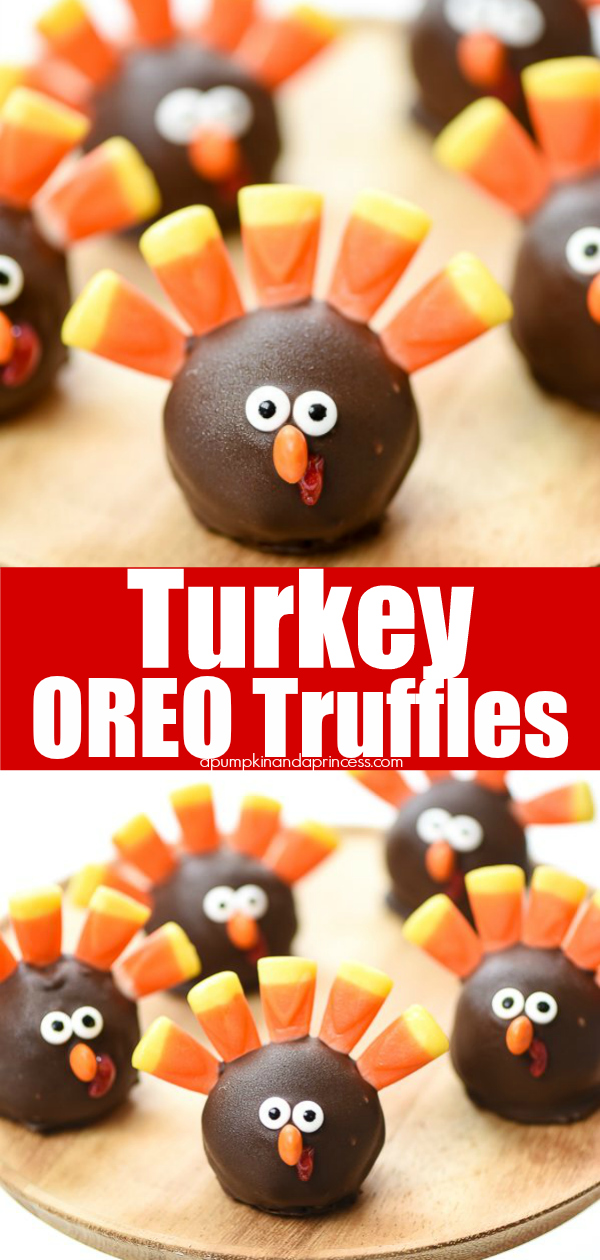 Turkey OREO Truffles - cute Thanksgiving dessert to make with kids!