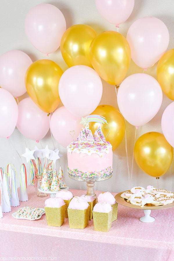 Shimmery Pink And Gold Unicorn Birthday Party Ideas Food Decorations