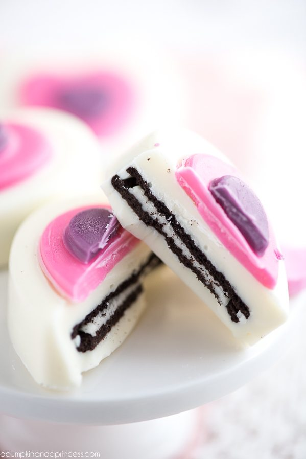 Chocolate Covered OREO Hearts