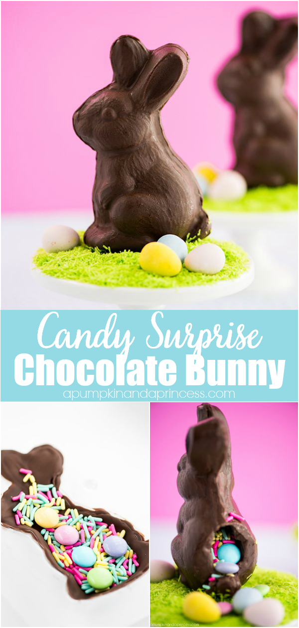 How to make a chocolate bunny filled with candy inside