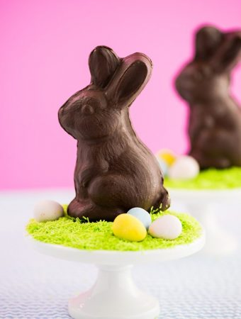 Homemade chocolate bunny tutorial