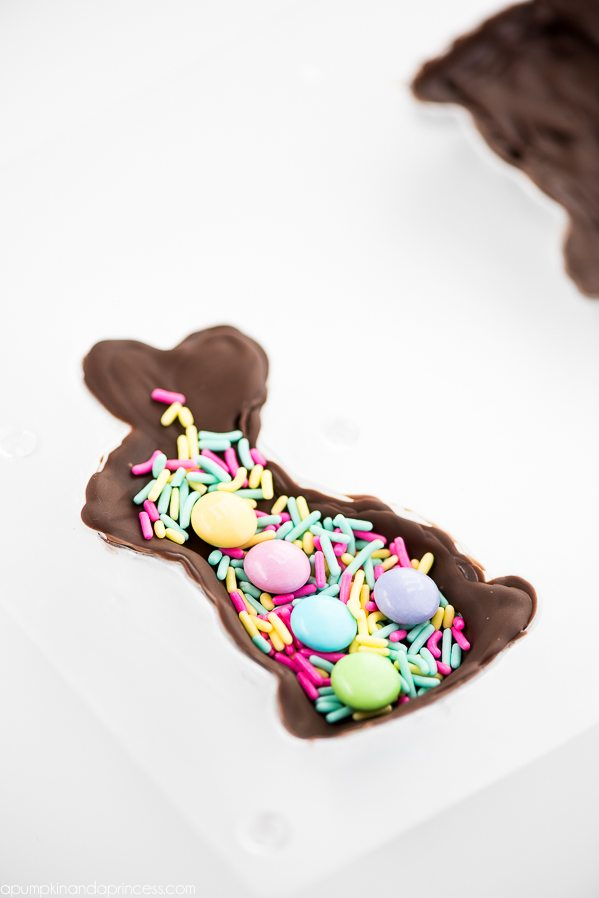 Homemade Chocolate Bunny - How to make candy surprise chocolate bunnies for Easter.