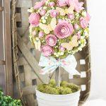 DIY Flower Topiary