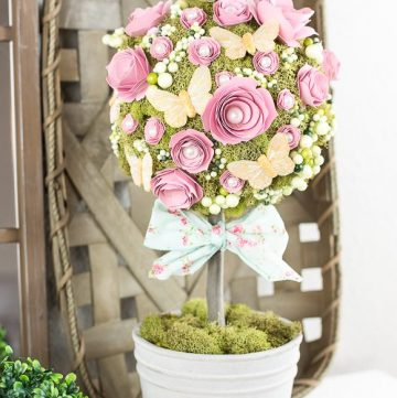How to make a paper flower topiary
