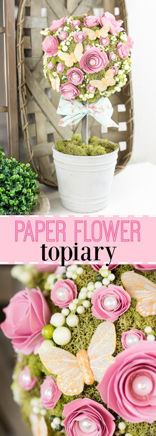 Diy Flower Topiary A Pumpkin And A Princess