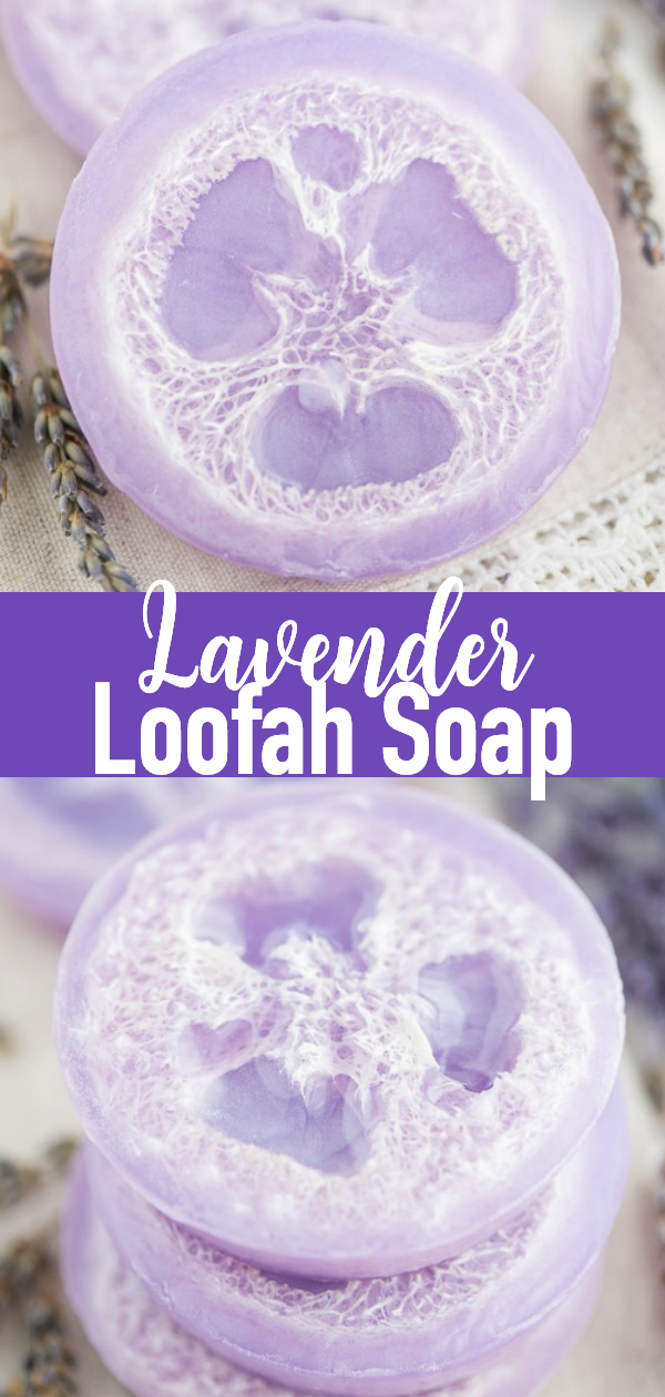 How to make loofah soap with lavender essential oil