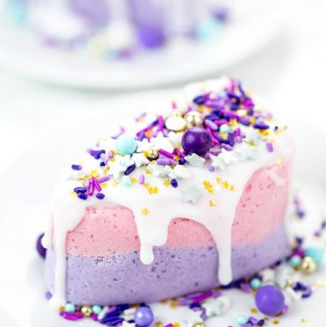 DIY Birthday Cake Bath Bomb – how to make cake slice bath bombs with soap icing and sprinkles.