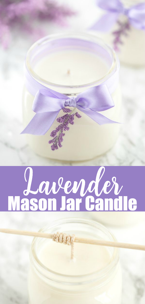 Easy DIY Mason Jar Candles - how to make soy wax lavender essential oil candles