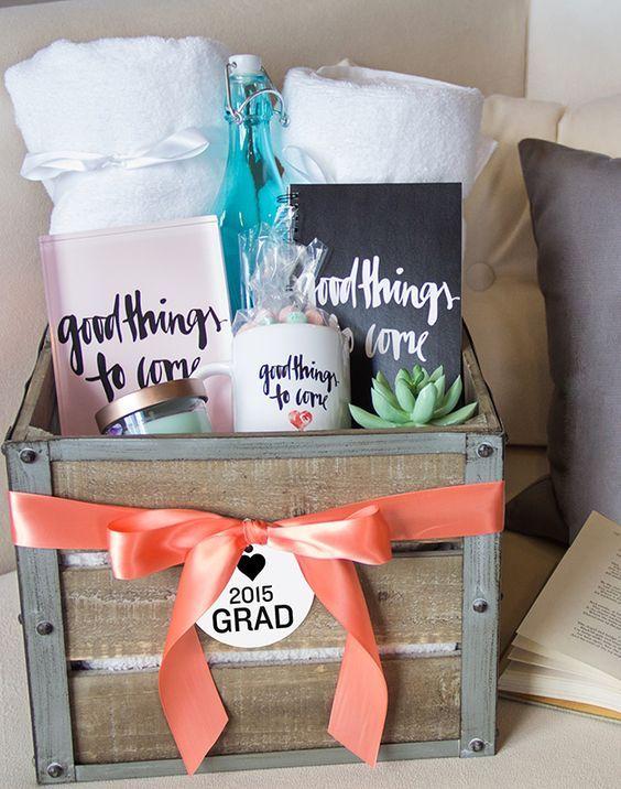 30 creative graduation gift ideas confetti balloons college survival kit motivational gift basket rolled money negle Choice Image