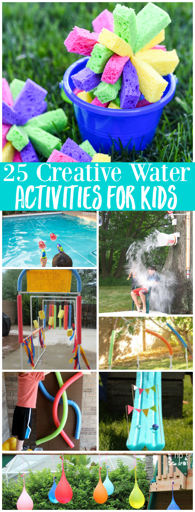 25 Creative Water Activities and Games for Kids - fun Summer boredom buster ideas!