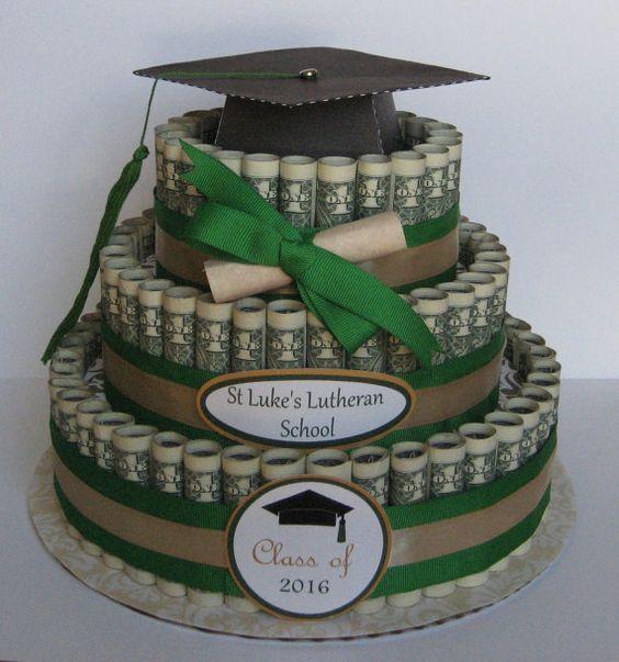 money shaped into a cake
