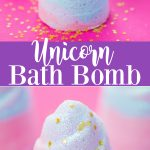 DIY Unicorn Bath Bomb - how to make a glitter unicorn horn bath bomb