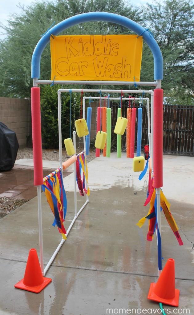 kids pretend car wash