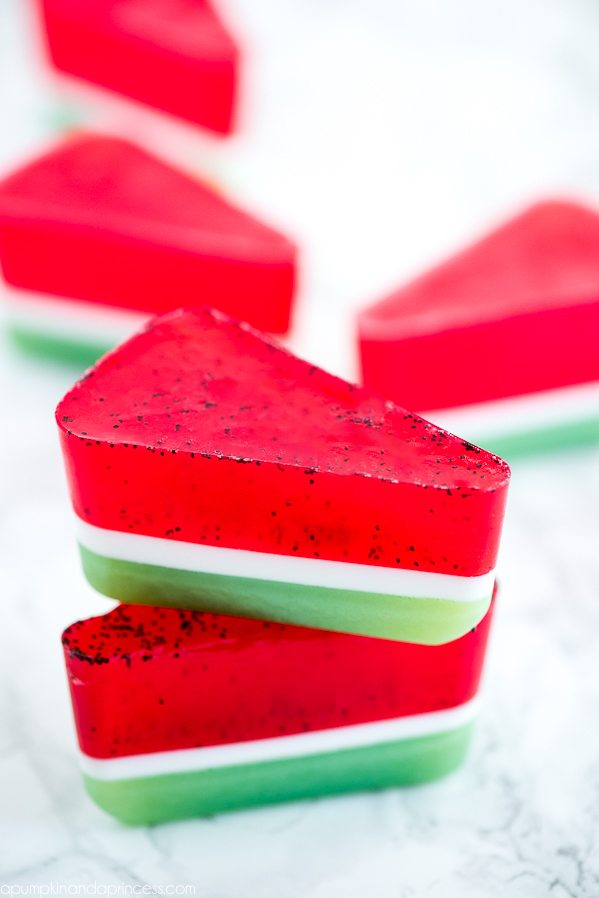 DIY Watermelon Soap – how to make layered watermelon soap just in time for summer!
