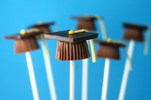 gradutation chocolate on a stick