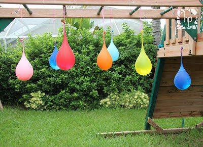 hanging water balloons