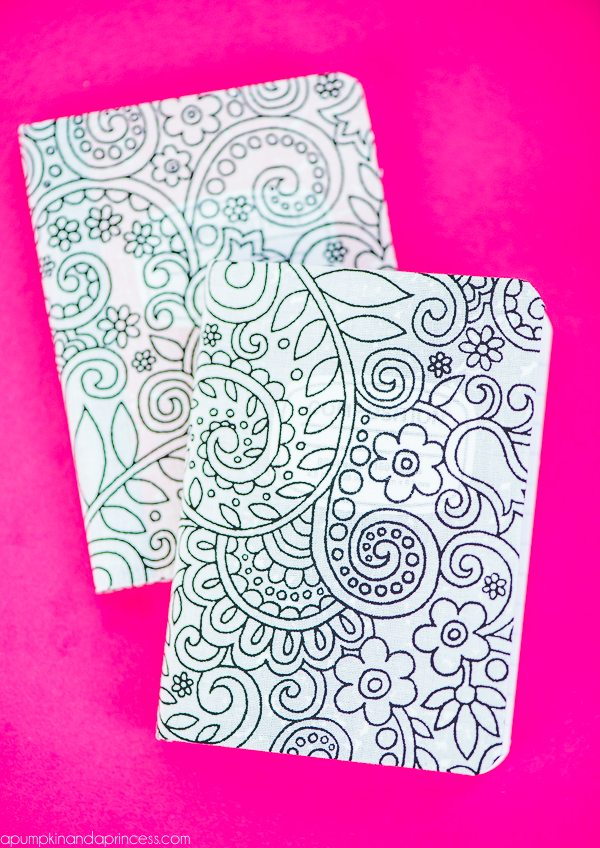 DIY Fabric Coloring Notebooks