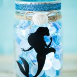 DIY Little Mermaid Mason Jar Light