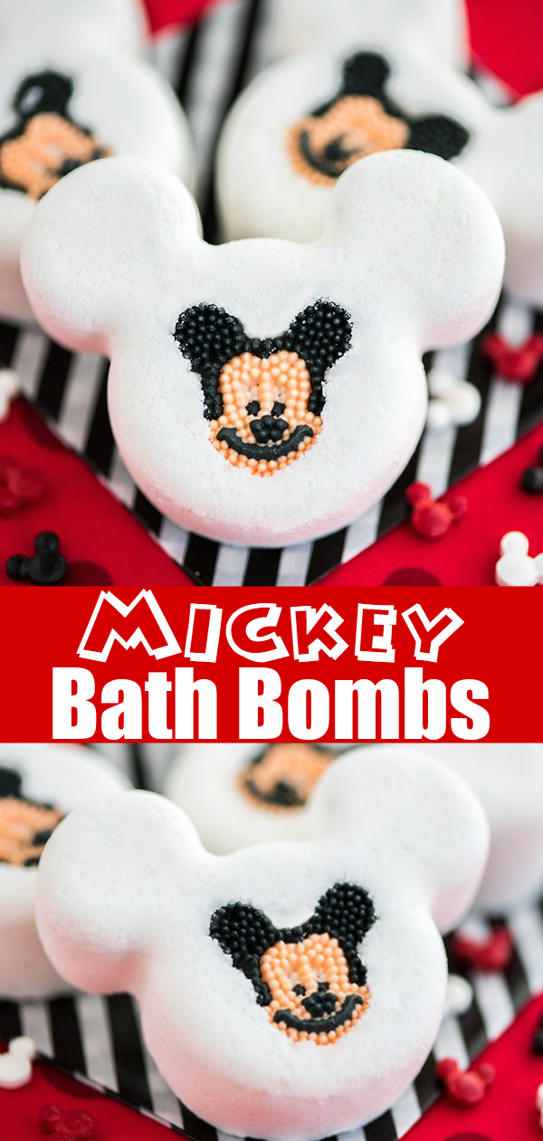 How to make Mickey Bath Bombs with calming essential oils