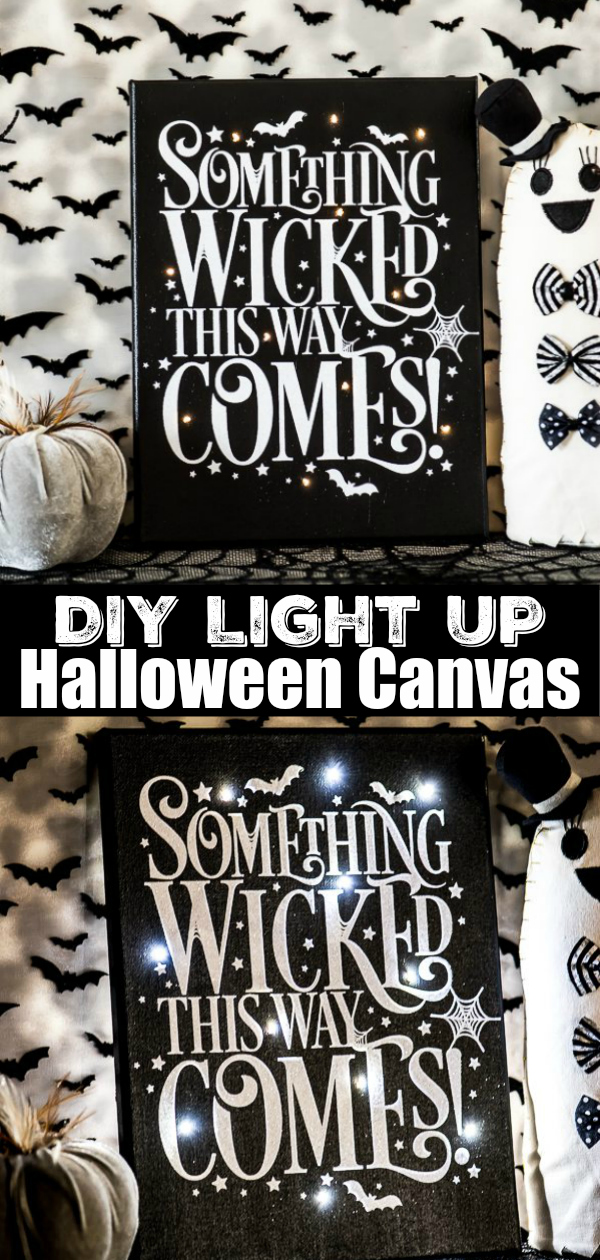 How to make a light up Halloween canvas