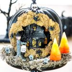 Haunted House Pumpkin Diorama