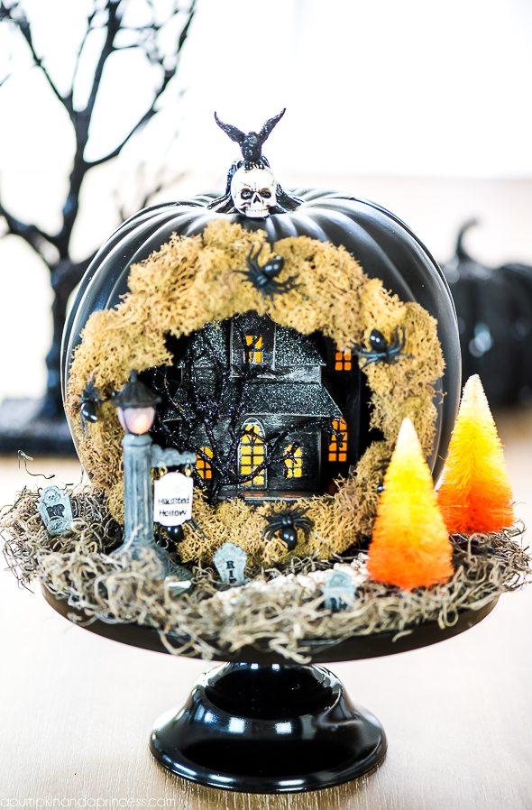 Haunted House Pumpkin Diorama