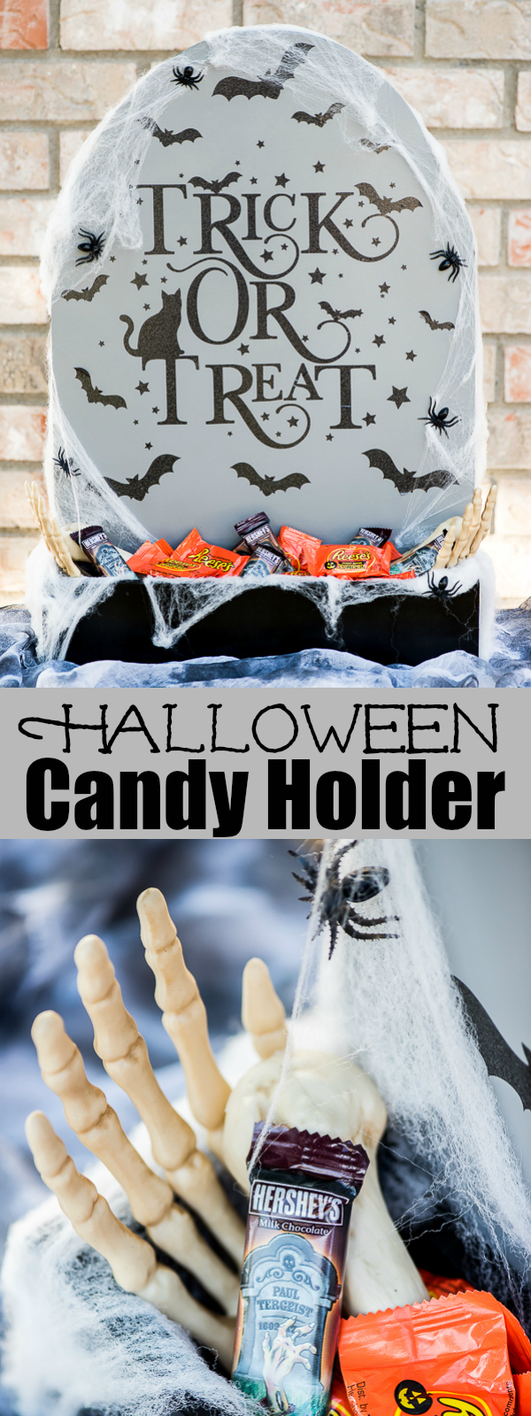 halloween tombstone candy holder