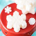 Peppermint Sugar Scrub Snowflake Cubes