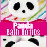 Easy DIY Panda Bath Bombs for kids made with skin nourishing oils.