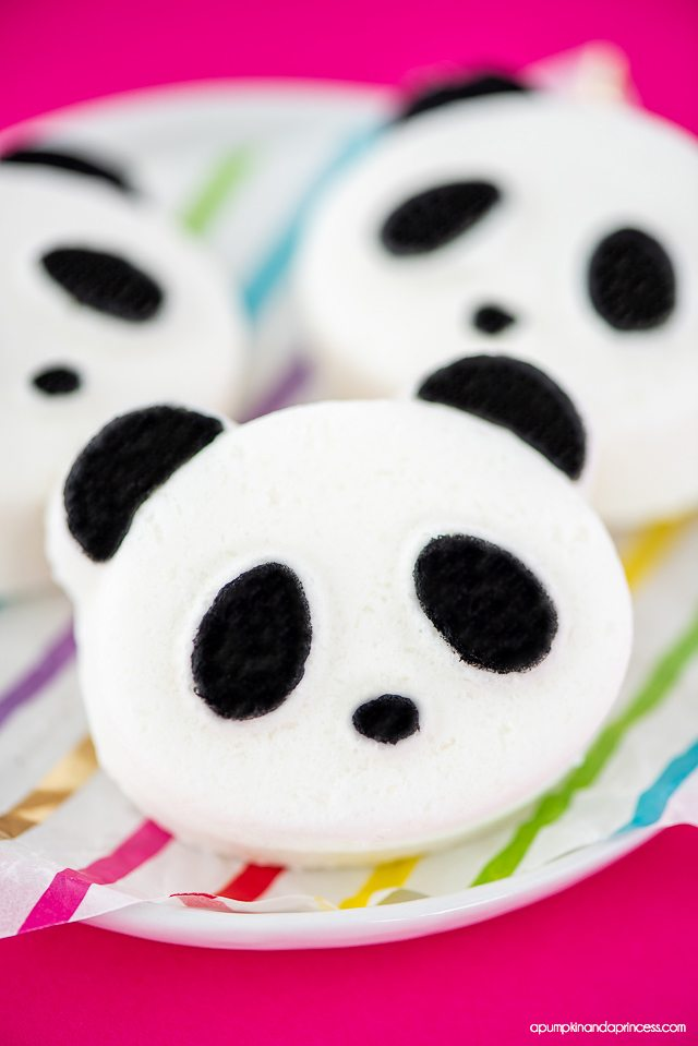 Easy DIY Panda Bath Bombs for kids! Adorable bath bombs shaped like a Panda and made with nourishing oils.