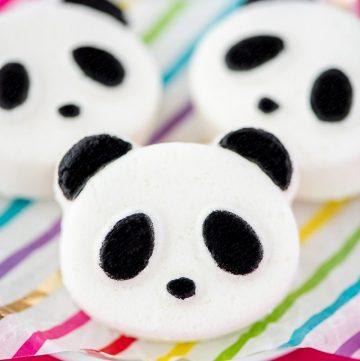 DIY Panda Bath Bombs – easy handmade bath bomb recipe for kids made with nourishing oils