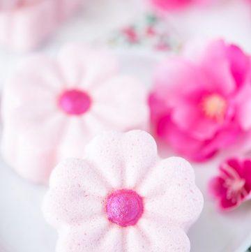 How to make Cherry Blossom Bath Bombs #bathbombs