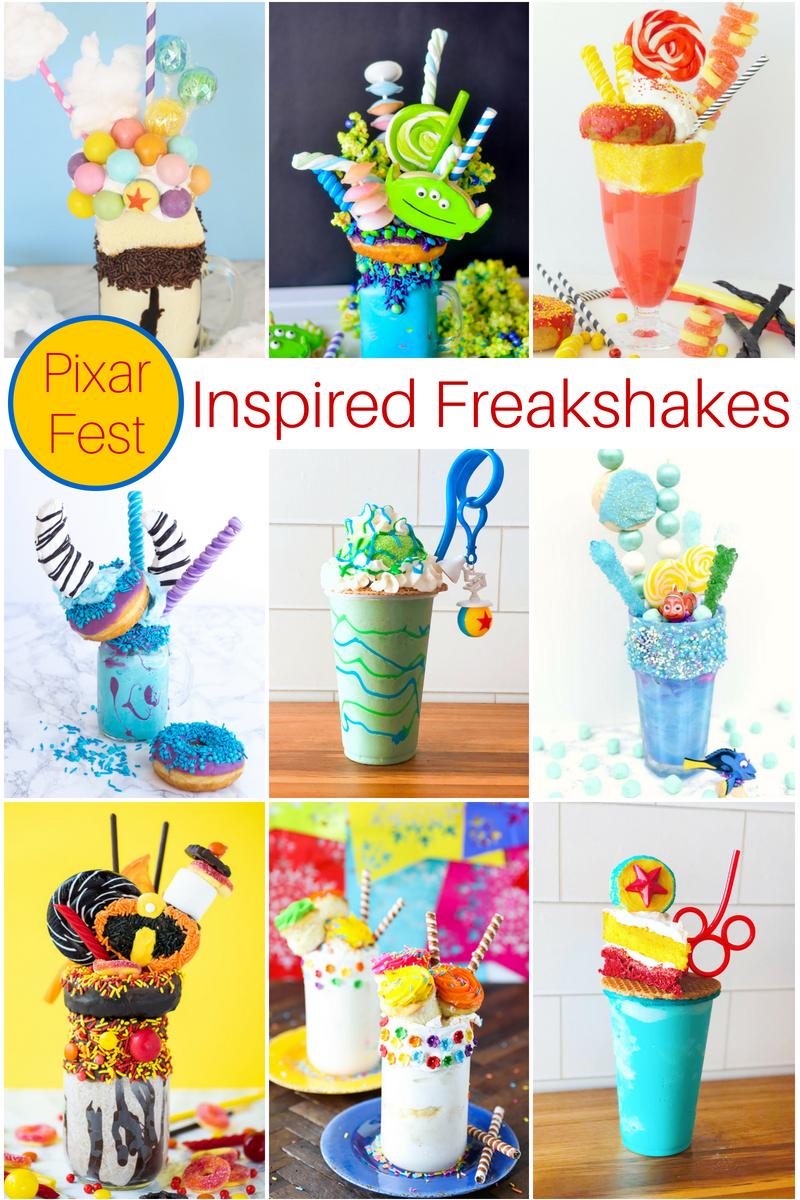 Disney Pixar Fest Inspired Milkshakes