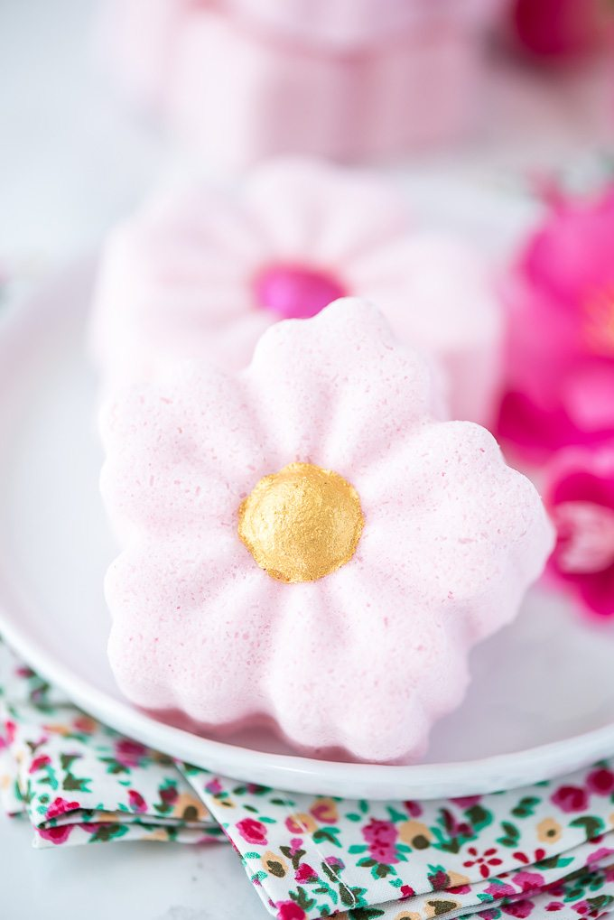 DIY Cherry Blossom Flower Bath Bombs