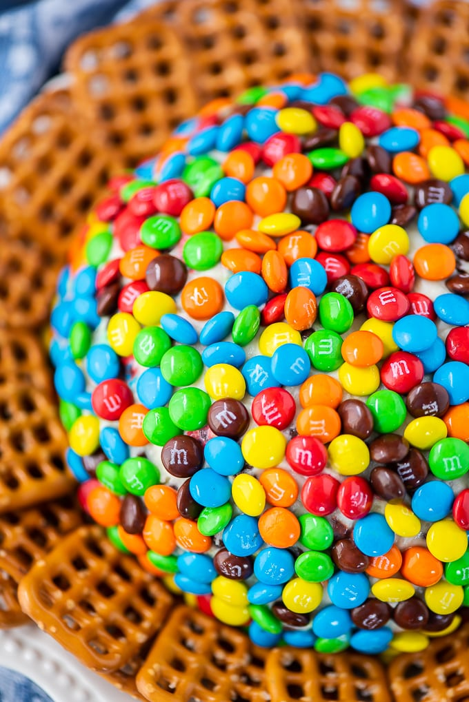 M&M Cheese Ball Dessert Dip Recipe