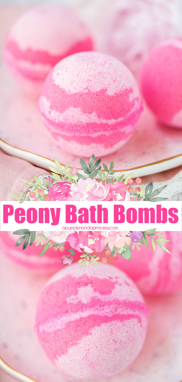 This DIY Peony bath bomb smells amazing and makes a lovely handmade gift idea