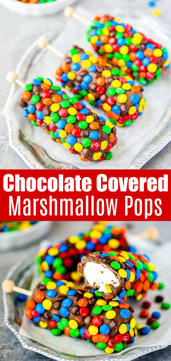 How to make chocolate covered M&M marshmallow pops