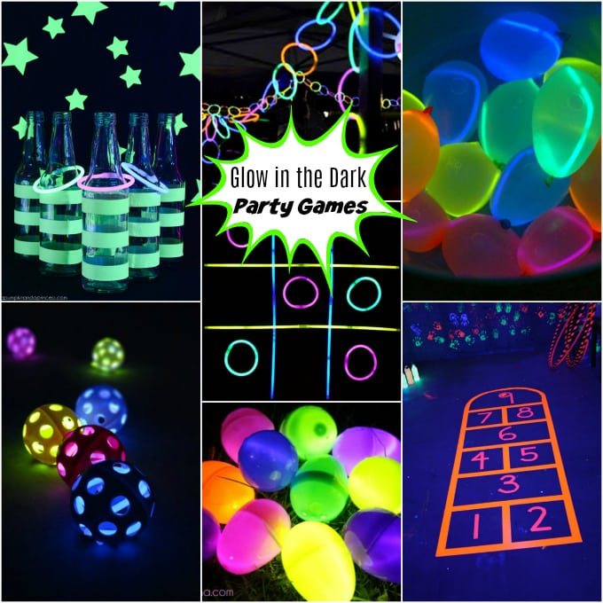 The BEST glow in the dark party games - easy and budget friendly DIY ideas