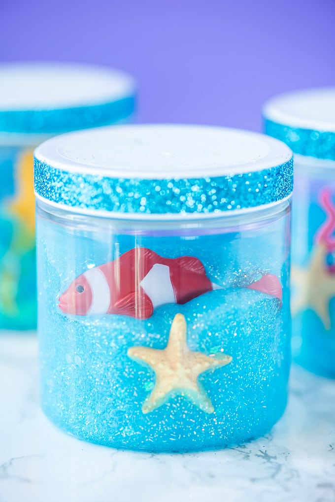 Fish tank slime craft